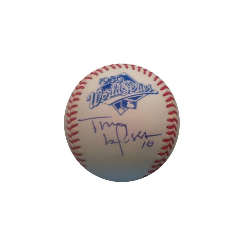 Signed Tony LaRussa 1989 World Series Baseball JSA COA