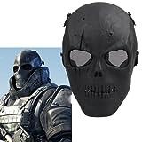 Máscara Protectora Cráneo Militar Amenazador Resistente Duradera