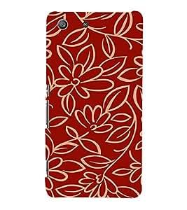 EPICCASE Flower outlines Mobile Back Case Cover For Sony Xperia M5 (Designer Case)
