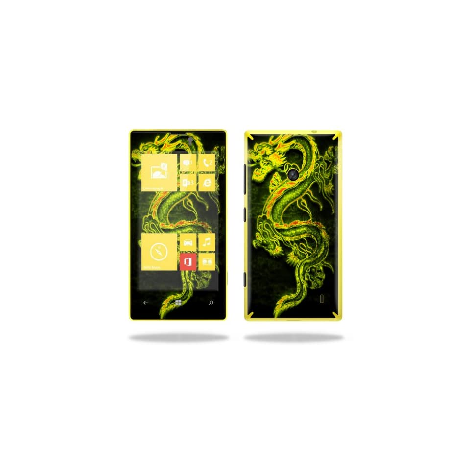 MightySkins Protective Vinyl Skin Decal Cover for Nokia Lumia 520 Cell Phone T Mobile Sticker Skins Neon Dragon Cell Phones & Accessories