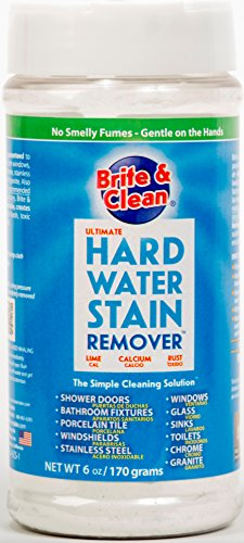 B&C (Made in USA) Stain & Scale Remover Shine Restorer Cleaner for Limescale, Rust, Burnt, Hard Water in Home Kitchen Bathroom Shower – Specially Formulated for Glass, Granite, Chrome, Stainless Steel, Window, Tap, Bathroom Fittings, Faucet, Tiles, Floor, Washbasin, Sink, Car Windshield – Ecofriendly, Biodegradable & Safe – Useful on all Surface & Material ( Net Content ~ 170 gms)