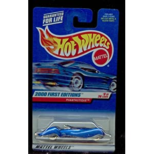 Mattel Hot Wheels 2000 First Edition : PHANTASTIQUE: DARK BLUE 1:64 Scale Die Cast Car 9 OF 36-069