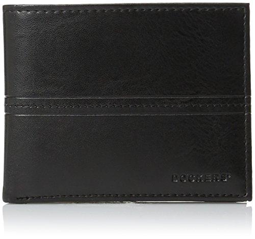 dockers-hombres-de-piel-autentica-pocketmate-id-billetera-bifold-wallet-negro-negro-talla-unica