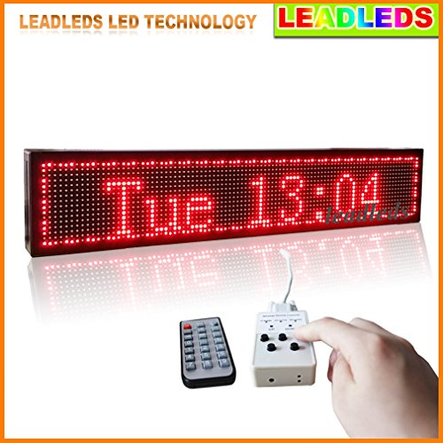 """Leadleds Message Selectable Scrolling Led Sign Boards By Keypad Or Remote Controller To Display Designated Message (39""""X7.5""""X2.2"""")"""