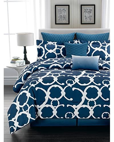 Duck River Textiles Rhys Hotel 7-Piece Quilted Overfilled Comforter Set