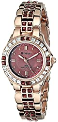 Armitron Women's 75/3689WMRG Swarovski Crystal-Accented Rose Gold-Tone Bracelet Watch