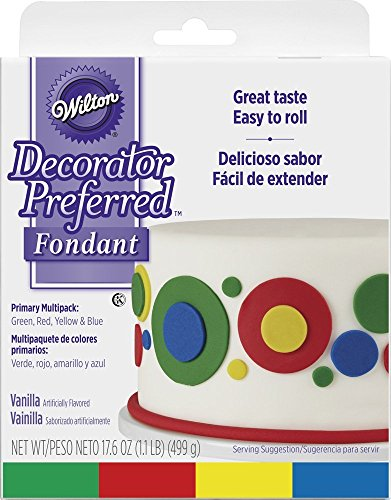 Wilton Primary Colors Multi Pack Decorator Preferred Fondant,