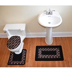 bathroom set black and white decor