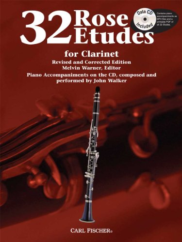WF85 - 32 Rose Etudes for Clarinet Book w/CD