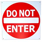 Do Not Enter Sign Tin Metal 12 X 12 Street Road Sign Traffic Signal