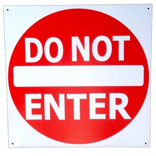 Do Not Enter Sign Tin Metal 12 X 12 Street Road Sign Traffic Signal