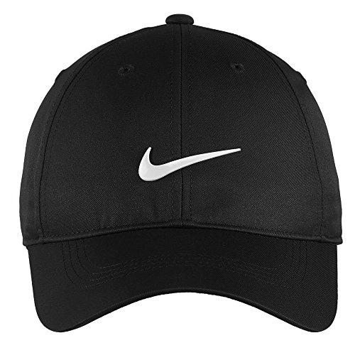 Nike Authentic Dri-FIT Low Profile Swoosh Front Adjustable Cap - Black (Profile Golf compare prices)