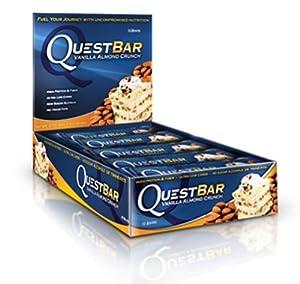 Quest Nutrition QuestBar Protein Bar Vanilla Almond Crunch -- 12 Bars