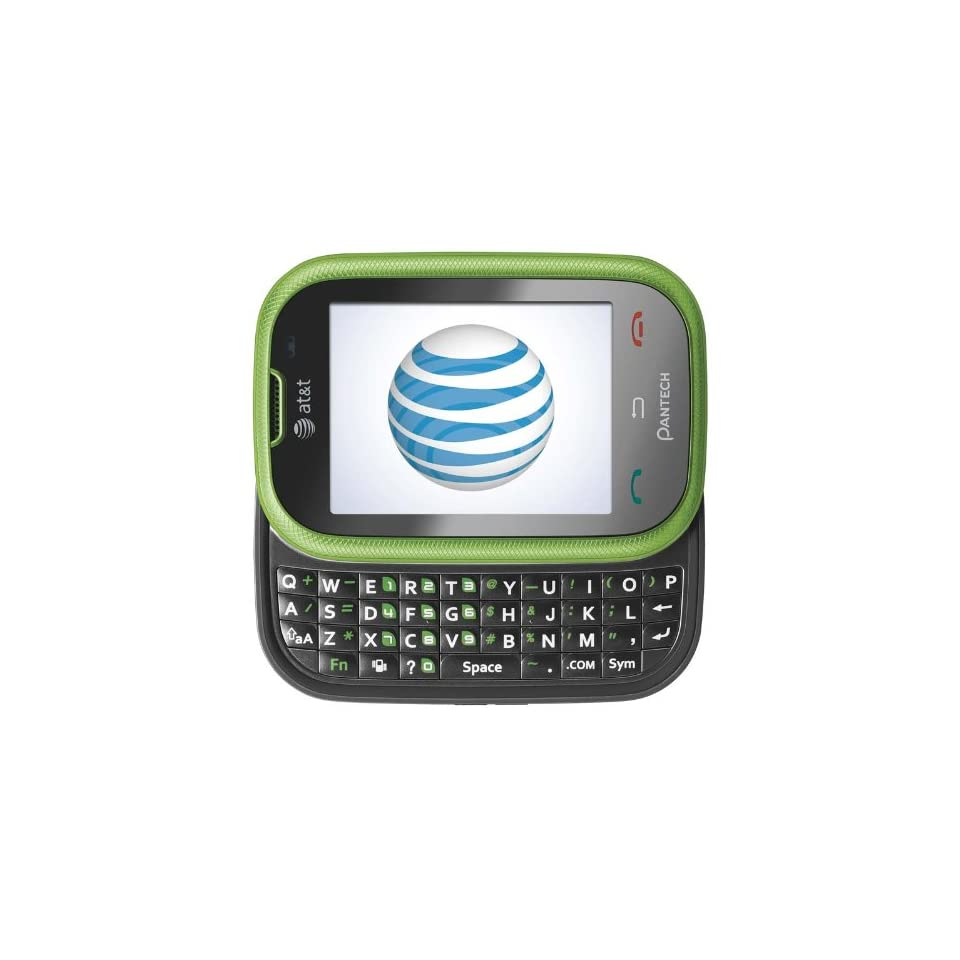 Pantech Pursuit P9020 Unlocked GSM Phone with 3G, 2 Touchscreen, QWERTY Keyboard, 2MP Camera, GPS and Bluetooth   Green