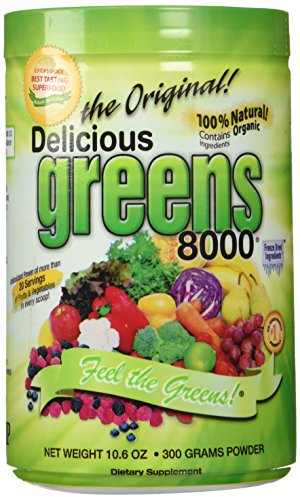 3 Pack - Delicious Greens 8000 (10.6 oz) 3 Pack (Super Greens 8000 compare prices)