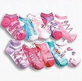 【 Angel Kids 】 女児 ショート 靴下 ジュニア 10足 セット キッズ ピンク 女の子
