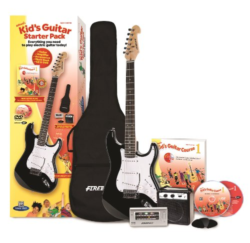 Alfred'S Kid'S Electric Guitar Course, Complete Starter Pack (Electric Guitar, Amplifier, Lesson Book, Cd, Dvd, Interactive Software, Tuner, Carrying Case, Picks)