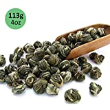 Tealyra - Imperial Jasmine Dragon Pearls - Loose Leaf Green Tea - Jasmine Green Tea with Pleasant Aroma and Tonic Effect - 113g (4-ounce) (Tamaño: 4oz / 113g)
