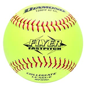 Buy Diamond Sports 12RFP 47 375 AMZ Leather Cover Fastpitch Softball, Dozen (12-Inch) by Diamond Sports