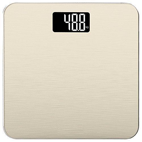 Smart Weigh Bilancia elettronica da bagno da 400lb/180kg in vetro temperato con tecnologia Step-On avanzata