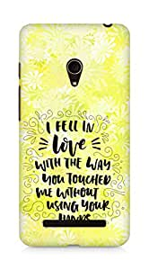 Amez I fell in Love with You Back Cover For Asus Zenfone 5