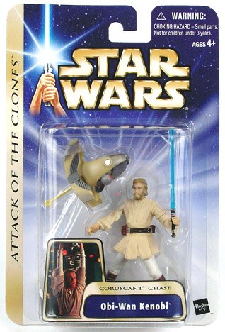 Star Wars: Episode 2 Obi-Wan Kenobi (Coruscant Chase) Action Figure (Star Wars Episode 2 Figures compare prices)