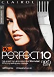 Clairol Perfect 10 By Nice 'N Easy Hair Color 03 Darkest Brown 1 Kit by Clairol [Beauty]