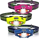 LED Headlamp - 100 lumens, 1 AA Battery, Only 1.5 oz. - Top Rated Running Headlamp - 4 White, 2 Red & SOS Light Modes - Best Headlamps for Running, Cycling, Camping, Reading, Crafts and Home Projects - Waterproof, Lifetime Warranty - By SmarterLife P