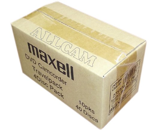 Maxell mini DVD+RW blank rewritable media in slim Case (40 discs of 8cm DVD+RW) for DVD camcorders or general data storage