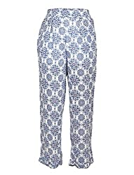 Chicabelle Girls' Jogger Pants (CH-34B_Navy White_12-14 Years)