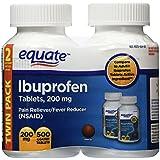 Equate Ibuprofen Tablets 200mg, 250ct, 2pk