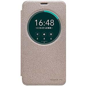 Asus Zenfone 2 Laser Case , Opdenk (TM) NILLKIN Sparkle Window View Sleep Wake Up Smart Case PU Leather Flip Cover Case for Asus Zenfone 2 Laser ZE550KL (Golden)