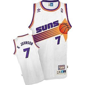 Kevin Johnson Jersey: adidas White Throwback Swingman #7 Phoenix Suns Jersey - White - X-Large