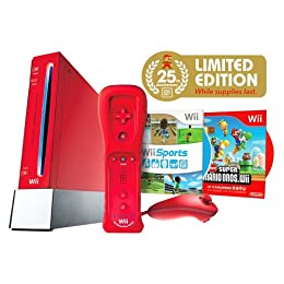 Product Image Limited Edition Red Wii Console with New Super Mario Bros.™ (Nintendo Wii)