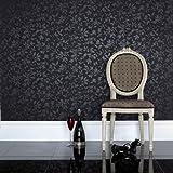 Graham & Brown Midsummer Wallpaper Black
