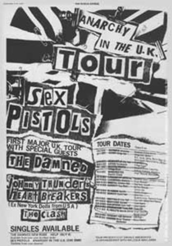 SEX PISTOLS Tour Poster, Officially Licensed Artwork, Premium Quality, 5