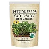 Patriot Seeds 8 Easy-To-Grow Varieties Organic Culinary Herb Garden