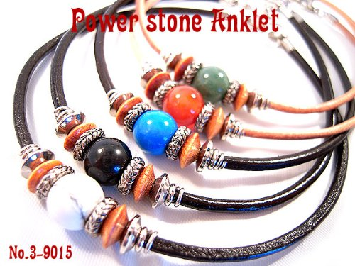 8 mm anklet natural stone stones leather ankle accessories aventurine 3-9015