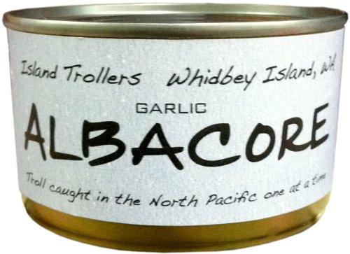 Albacore Tuna Troll Caught Dolphin Safe Sashimi Grade North Pacific Garlic 212 g 7.5 oz
