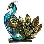 Capiz Shell Peacock Accent Light