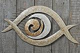 Wand-Objekt Eye Perlmutt, Länge 102 cm, 1 Stück