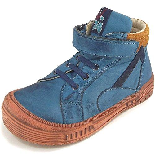 NaturinoNATURINO 3984 - Sneaker alta Bambino , Blu (petrolblau (avio/ocra/navy)), 22
