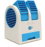 #1: Dual Bladeless Mini Air Conditioner Cooling Fragrance Fan Random Color