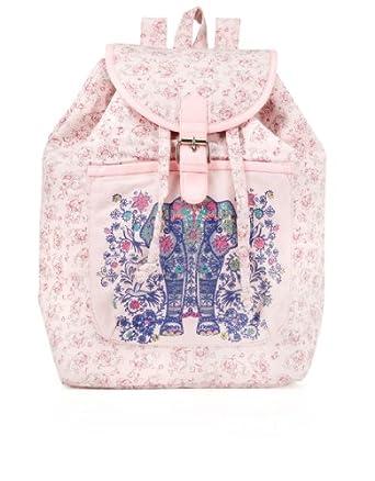 Monsoon Girls Ethnic Elephant Backpack Size One Size Pink