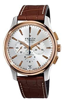 Zenith Men's 51.2112.400/01.C498 El Primero Captain Gold and Silver Dial Watch by Zenith
