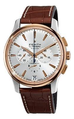 Zenith Men's 51.2112.400/01.C498 El Primero Captain Gold and Silver Dial Watch
