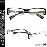 (アランミクリ)alain mikli メガネ 眼鏡 [A0477 21]ブラック×ホワイト セルフレーム メガネ サングラス GLASSES 眼鏡 (平行輸入品)
