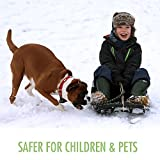 Ice Melt for families with pets - Larger 10-lb Size - Safe for use as a snow and ice melter on driveways and sidewalks - Easy-Shake container