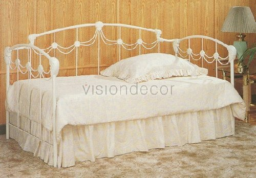 Ivory White Princess Style Daybed w/Link Spring