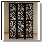 Decorative Room Divider Screen with Swirl Design